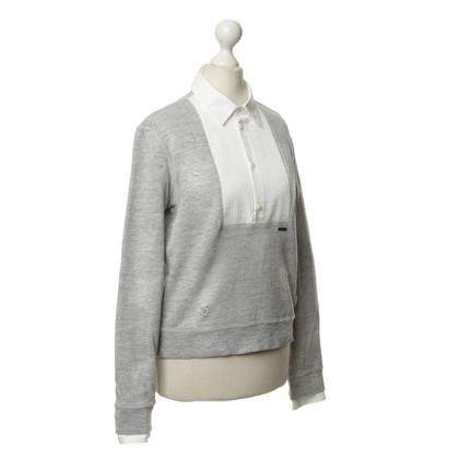 Dsquared2 Sweatshirt mit Blusen-Besatz