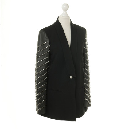 Versace Blazer with leather sleeves