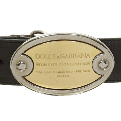 Dolce & Gabbana Two-coloured buckle belt