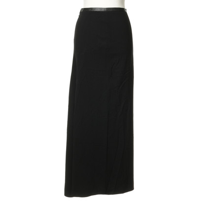 Blumarine Long skirt with leather application