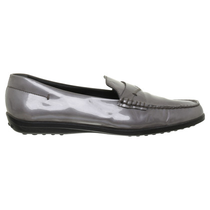 Tod's Loafers in silver grey