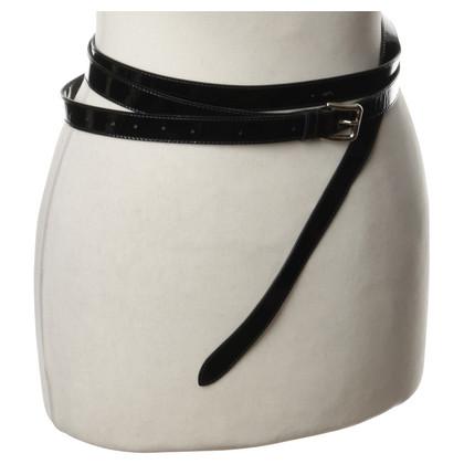 Dolce & Gabbana Black patent leather belt
