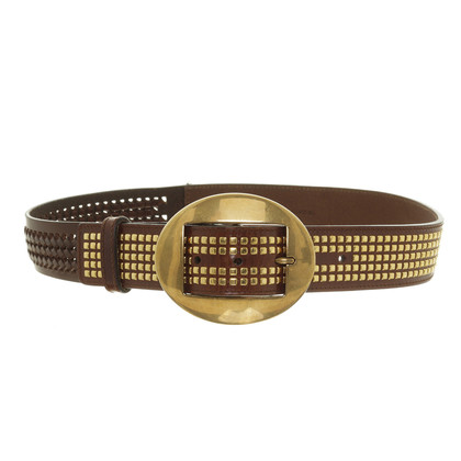 Dolce & Gabbana Dark brown studded belt