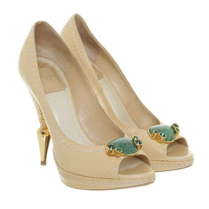 Christian Dior Peep-toes with plateau in beige - limited edition