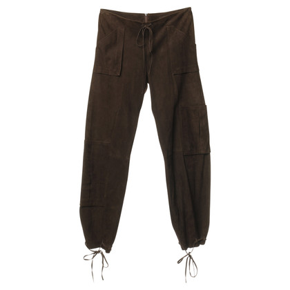 Jitrois Lederen broek in Brown