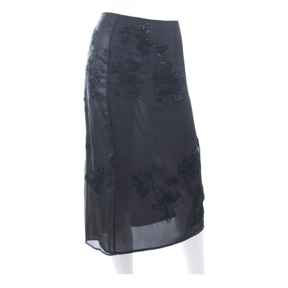 Jil Sander Embroidered evening skirt