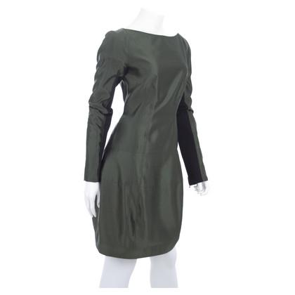 Proenza Schouler Seidenkleid in Dunkelgrün