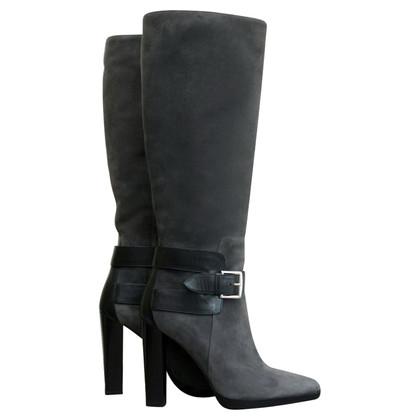 Hermès Stivali in camoscio grigio