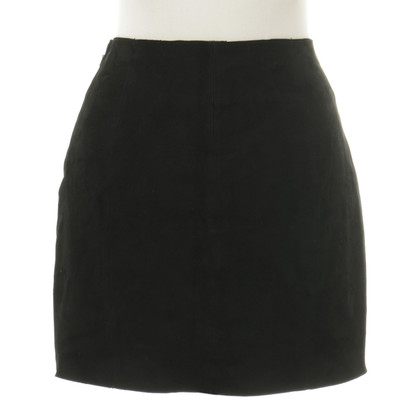 Maje Suede skirt with flashy tie and rivets
