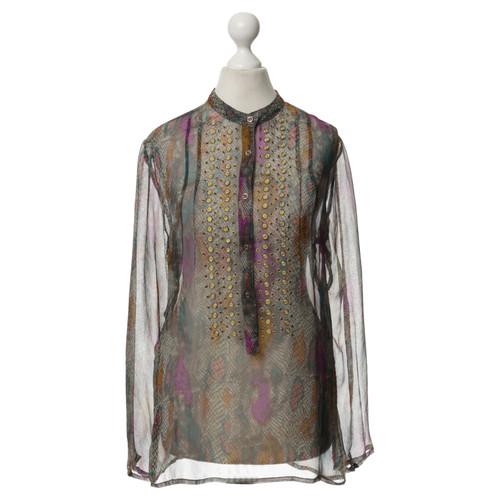 antik batik seidenbluse mit muster - Batiken Muster