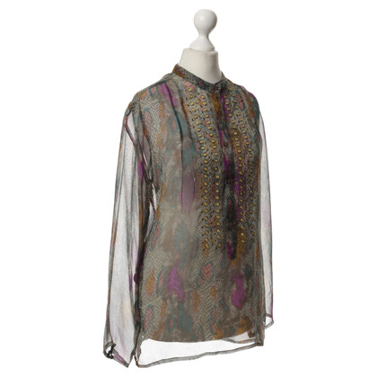 Antik Batik Silk blouse with patterns