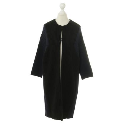 Schumacher Knitted coat in bicolor