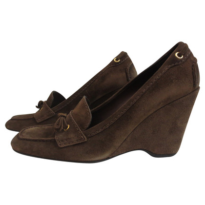 Car Shoe Moccasin of wedge suede