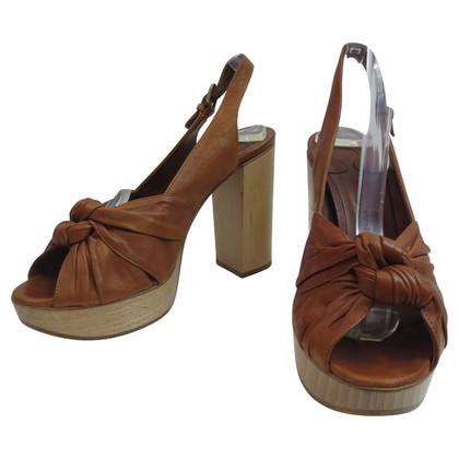Chloé Peep Toe Sandale mit Plateau