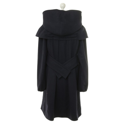 Philosophy di Alberta Ferretti Coat in dark blue
