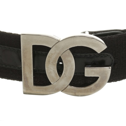 Dolce & Gabbana Textile belt with logo buckle