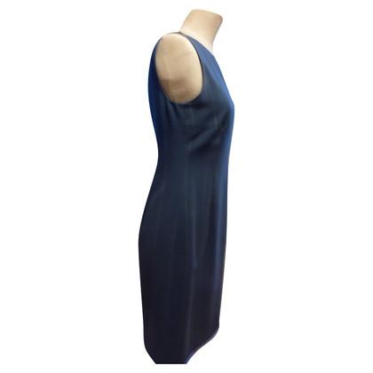 Akris Vestito blu con il gessato