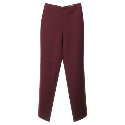 Versace Cotton Trousers in Burgundy Red