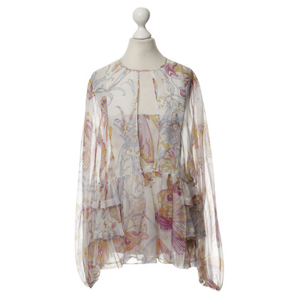 Emilio Pucci Silk blouse with a floral pattern