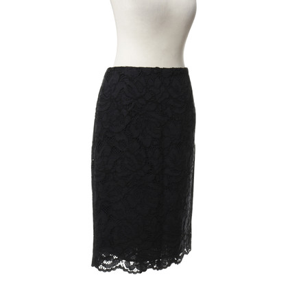 Sandro Black skirt with lace trim