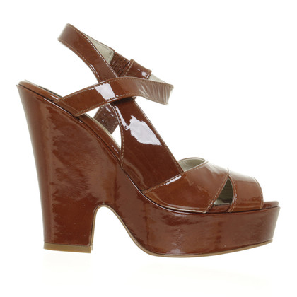 Max Mara Wedge sandals in Brown