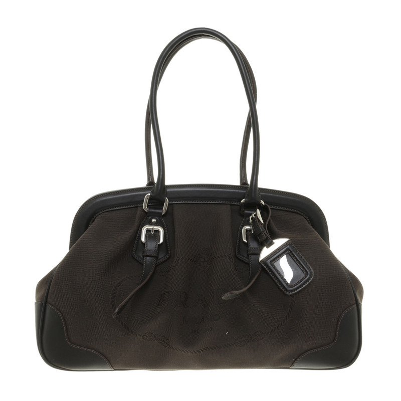 prada tasche in braun second hand prada tasche in braun gebraucht kaufen f r 485 00 164034. Black Bedroom Furniture Sets. Home Design Ideas