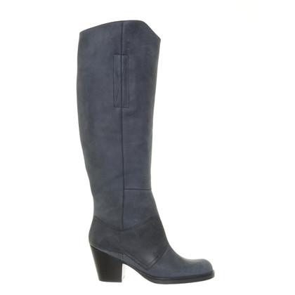 Acne Stivali in pelle Nachtblaue