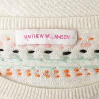 Matthew Williamson Kaschmirpullover mit Stickerei