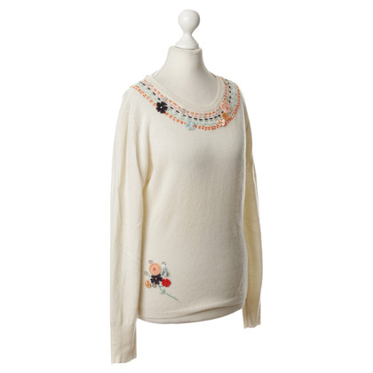 Matthew Williamson Cashmere sweater with embroidery