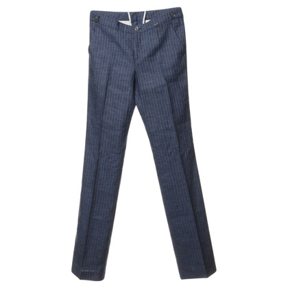 Bogner Blue trousers with pinstripes