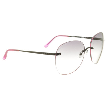 Matthew Williamson Sunglasses black & neon pink