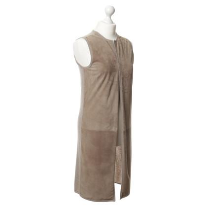 Ralph Lauren Maglia di cashmere con dettaglio in camoscio