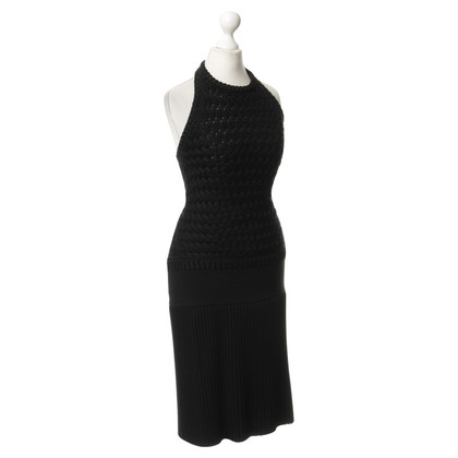 Hermès Crochet dress in black