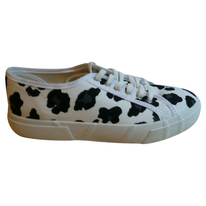 Kurt Geiger Canvas Sneakers mit Animal Print