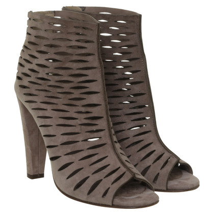 Diane von Furstenberg Suede ankle boot with pretty brown colour and Lasercutouts