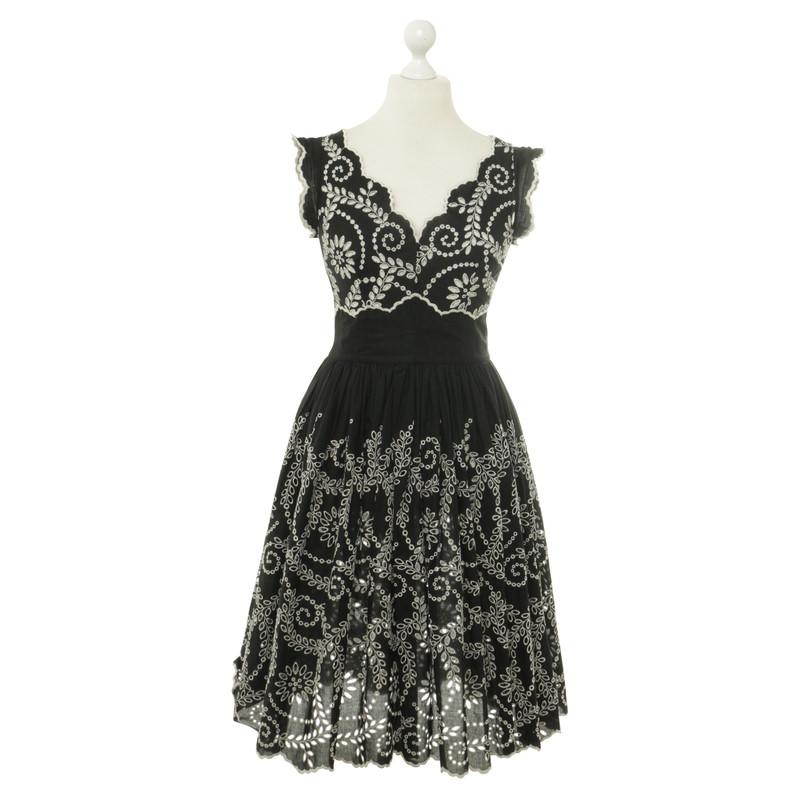 other designer lena hoschek dress with embroidery buy. Black Bedroom Furniture Sets. Home Design Ideas