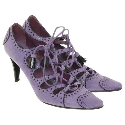 Etro Wildlederpumps in Violett
