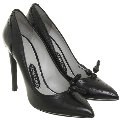 Tom Ford Black Pumps lyre holes
