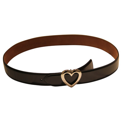 Moschino  belt with heart buckle