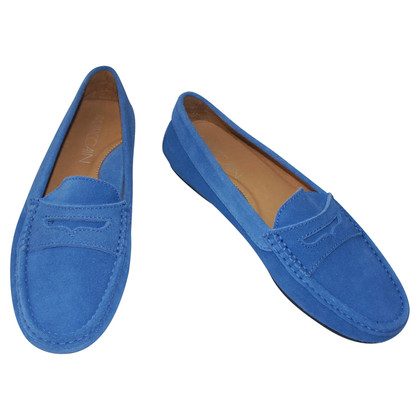 Marc Cain Blue Suede Slippers