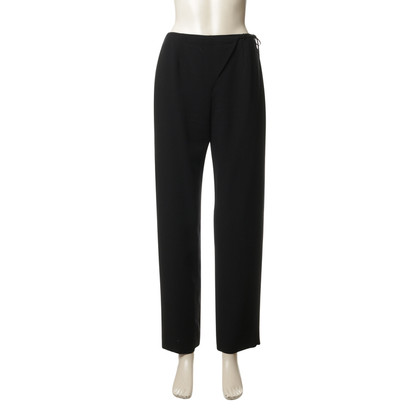 Armani Black pants with tie detail