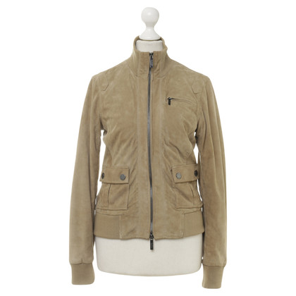 Calvin Klein Leather jacket in beige