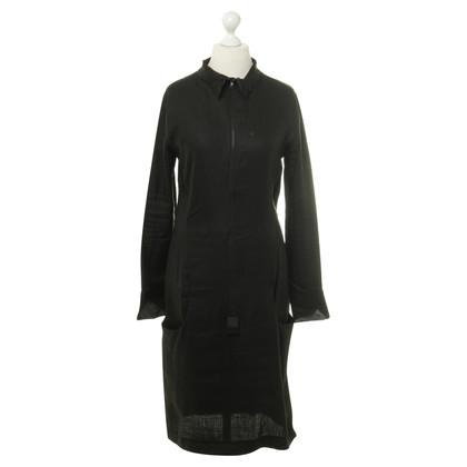 Yohji Yamamoto Rits jurk in zwart
