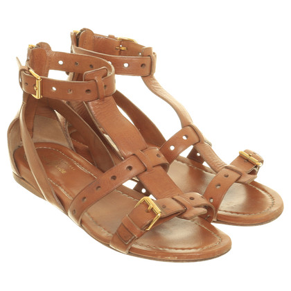 Car Shoe Sandals in Brown
