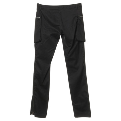 Plein Sud Black pants with statement zippers