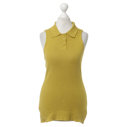 Jean Paul Gaultier Knitted top in mustard yellow