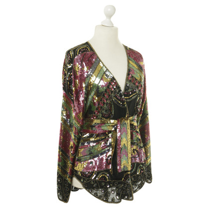 Ella Singh Silk jacket with sequin trim