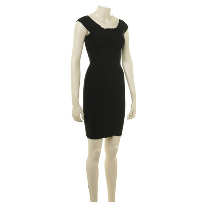 Herve Leger Bodycon jurk in zwart