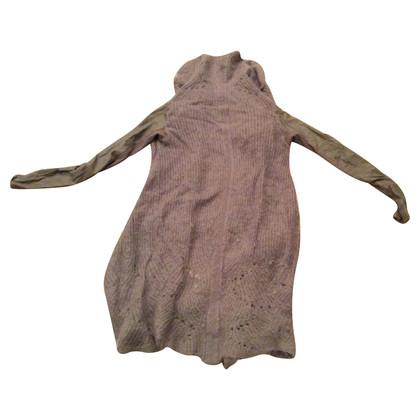 Rick Owens Vest trui met leer mouwen