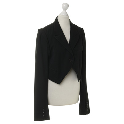 Ann Demeulemeester Short Blazer in black